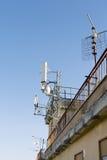 Antenne dei sistemi cellulari mobili fotografia stock