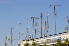 Antenne della TV Immagini Stock