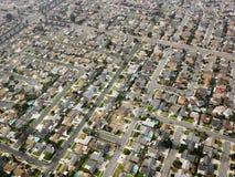 Antenne der städtischen Ausbreitung. lizenzfreies stockbild