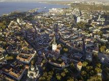Antenne der Stadt Tallinn, Estland stockbild