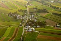 Antenne des Ackerlands Lizenzfreies Stockfoto