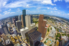 Antenne des bâtiments modernes Photo libre de droits