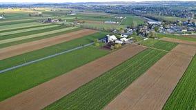 Antenne des fermes amish photographie stock