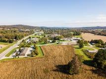 Antenne des Freilands weg von Weg 30 in Gettysburg, Pennsylvnia in t Stockfotos