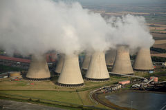 Antenne des Kraftwerks Lizenzfreie Stockfotos