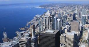 Antenne des Seattles, Washington Skyline 4K stock video footage