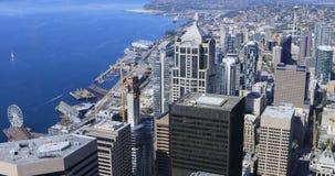 Antenne des Seattles, Washington Stadtzentrum 4K stock video footage