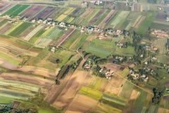 Antenne des terres cultivables polonaises près photographie stock libre de droits