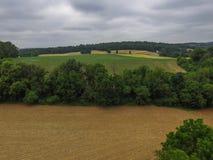 Antenne di nuova libertà, della Pensilvania e del terreno coltivabile circostante du Immagini Stock Libere da Diritti