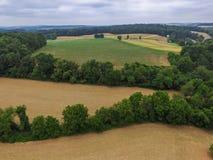 Antenne di nuova libertà, della Pensilvania e del terreno coltivabile circostante du Fotografia Stock
