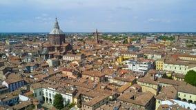 Antenne die met hommel op Pavia schieten Stock Foto's