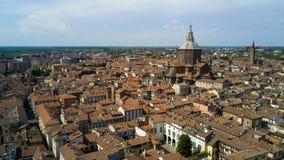 Antenne die met hommel op Pavia schieten Stock Afbeelding