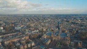 Antenne die schot van Amsterdam, Nederland vestigen stock videobeelden