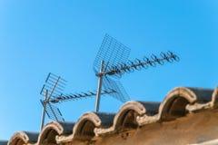 Antenne domestiche della TV immagini stock