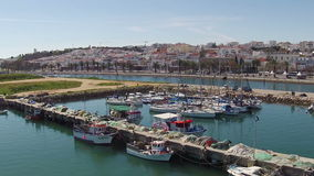 Antenne du port de Lagos Portugal banque de vidéos