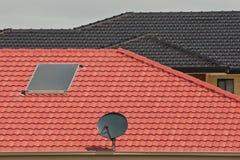 Antenne en verwarmer op dak Royalty-vrije Stock Foto