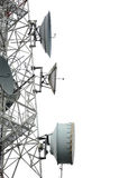 Antenne et paraboloïdes photographie stock libre de droits