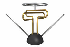 Antenne géniale de TV illustration stock