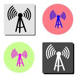 Antenne Icône plate de vecteur illustration libre de droits