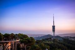 Antenne im Himmel-Sonnenuntergang vom Berg Tibidado Stockfoto