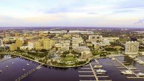 Antenne im Stadtzentrum gelegenes West Palm Beach Florida Lizenzfreies Stockfoto