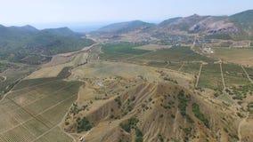 ANTENNE: Landschapslandbouwgrond stock footage