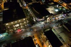 Antenne Lincoln Road d'image de nuit Photographie stock libre de droits