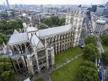 Antenne Londons Westminster Abbey Skyline Lizenzfreies Stockfoto