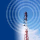 Antenne met blauwe hemel royalty-vrije illustratie