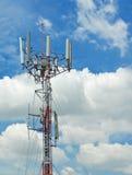 Antenne mit bewölktem Himmel Stockbilder