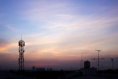 Antenne mit Morgenzeit lizenzfreies stockbild
