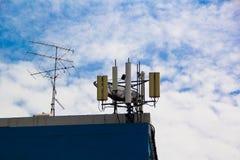 Antenne mobile dans le toit photo stock
