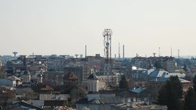 Antenne mobili di GSM nella città