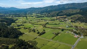 Antenne, Neuseeland-Ackerland in Hutt-Tal Stockfotos