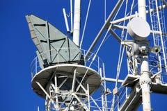 Antenne op de mast stock foto