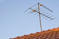 Antenne op het dak Stock Afbeeldingen