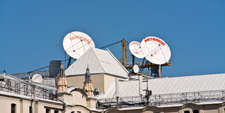 Antenne op het dak Royalty-vrije Stock Fotografie