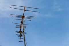 Antenne op het dak Stock Fotografie