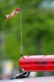 Antenne op het dak van politiewagen stock fotografie