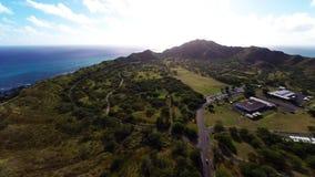 Antenne over Diamond Head in Honolulu, Hawaï stock video