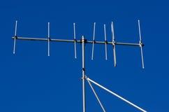 Antenne périmée de l'analogue TV photographie stock