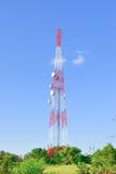 Antenne par radio de télécommunication Image stock