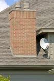 Antenne parabolique à la maison Photographie stock libre de droits