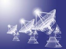 Antenne parabolique illustration libre de droits