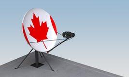 Antenne parabolique avec le drapeau du Canada illustration de vecteur
