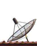 Antenne parabolique d'isolement image stock
