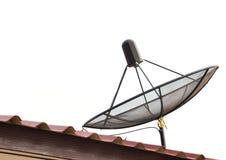 Antenne parabolique d'isolement photo libre de droits