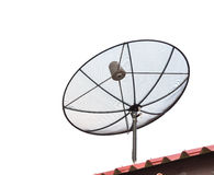 Antenne parabolique d'isolement sur le blanc images libres de droits