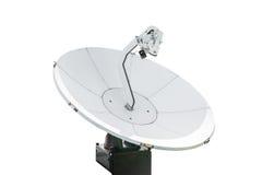 Antenne parabolique, d'isolement sur le blanc Photographie stock libre de droits