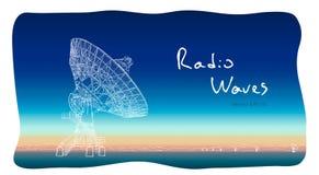 Antenne parabolique de radiotélescope Aspiration de croquis de vecteur illustration de vecteur